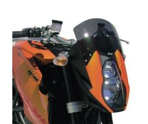 HIGH SCREEN + 10 CM (TOTAL HEIGHT 20 CM) ERMAX FOR 990 SUPER DUKE 2006 (+ FIT KIT )CLEAR