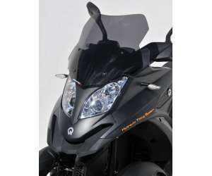 SCOOTER WINDSHIELD ERMAX SPORT 46CM FOR QUADRO 3D 350 AND 350 S (+KIT FIX )2012/2013 SMOKED