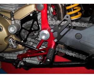 Adjustable rearsets 4RACING for DUCATI  HYPERMOTARD 796