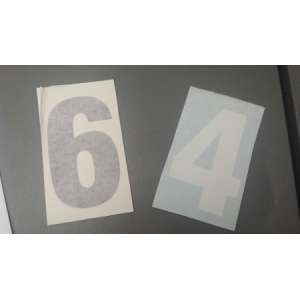 Race Numbers Stickers