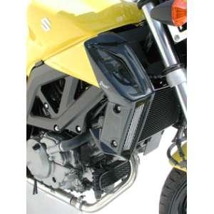 COPRI RADIATORE (AL PAIO) ERMAX FOR SV 650 N 2008/2010 SILVER CARBON LOOK & ANTHRACITE GREY (YLF )