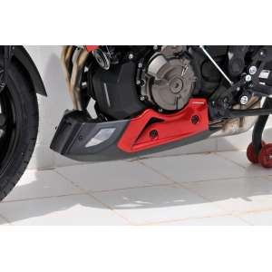 BELLY PAN (3 PARTS )ERMAX FOR MT 07 TRACER 2016/2017 RED METAL (RADICAL RED)/NOIR SATIN