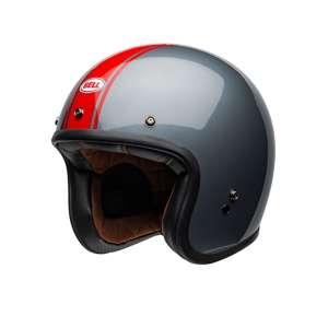 Casco Bell Jet Custom 500 Rally Helmet Gloss grigio e rosso