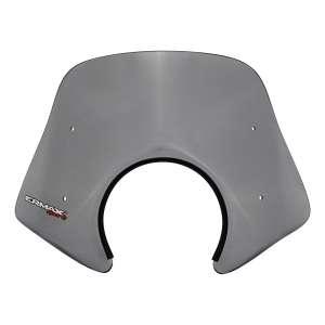 SV PICCOLO 30 CM ERMAX FOR PIAGGIO FLY 50/125 2009/2012 (OMEGA CUT )+ CHROMED FIX S GREY