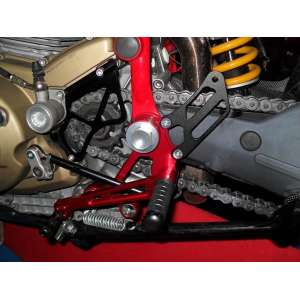 Adjustable rearsets 4RACING for DUCATI  HYPERMOTARD 1100